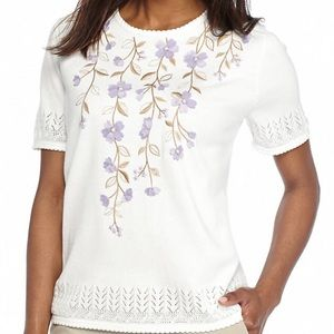 HP Petite Lavender Fields Floral Yoke Dunner